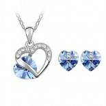 Set bijuterii Deep Blue Heart